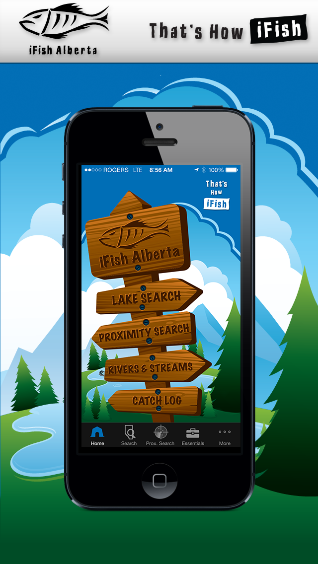 iFish Alberta App Home Screen