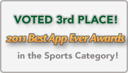 iFish Alberta Voted 3rd in the 2011 Best App Ever Awards (Sports Category)